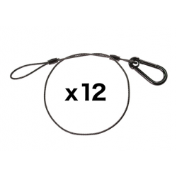 Black Safety Cable - 30 inches - 12 Pack