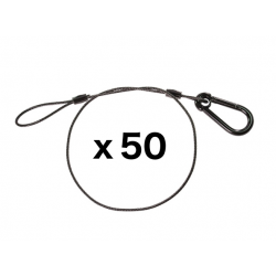 Black Safety Cable - 30 inches - 50 Pack