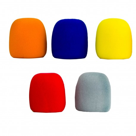 Nady 5-Pack Microphone Windscreens - Assorted Colors