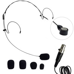 Nady Headworn Uni-directional Microphone - Mini-XLR Connection - Black