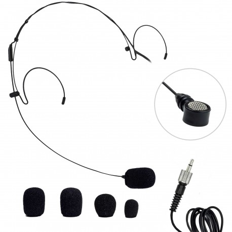 Nady Headworn Uni-directional Microphone - 3.5mm Connection - Black