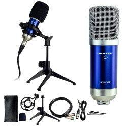 Nady 8-Piece Condenser Microphone Recording Kit