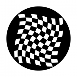 Apollo Metal Gobo 1318 Waving Checkerboard