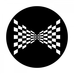 Apollo Metal Gobo 1319 Perspective Checkerboard