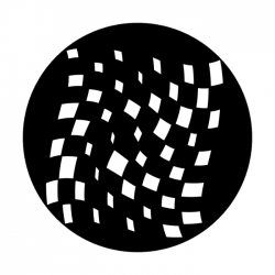 Apollo Metal Gobo 1320 Twisting Checkerboard