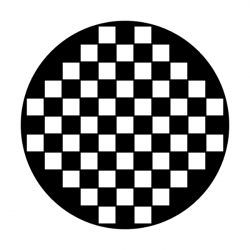 Apollo Metal Gobo 2006 Checkerboard Wall
