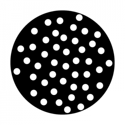 Apollo Metal Gobo 2041 N. Phillips - HB Dots Scattered
