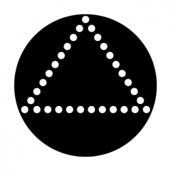 Apollo Metal Gobo 2085 Dots-Triangle