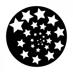 Apollo Metal Gobo 2329 Stars Spiral