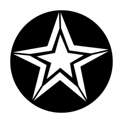 Apollo Metal Gobo 2410 Star With Outline