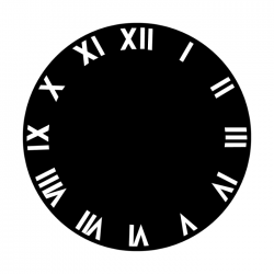 Apollo Metal Gobo 2505 Clock Roman Numeral