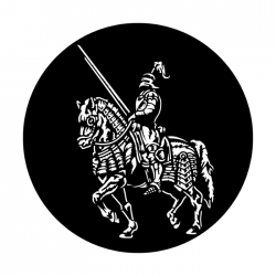 Apollo Metal Gobo 2537 Knight On Horse