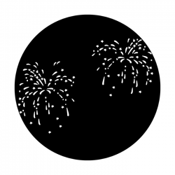 Apollo Metal Gobo R 3006 July Fourth Fireworks