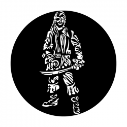 Apollo Metal Gobo 3039 Pirate Standing