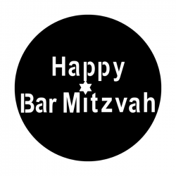 Apollo Metal Gobo 3123 Happy Bar Mitzvah