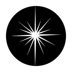 Apollo Metal Gobo 3205 Christmas Star Thin