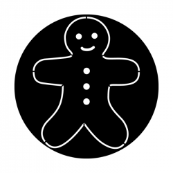 Apollo Metal Gobo 3207 Gingerbread Cookie