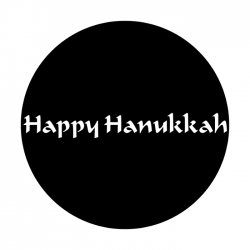 Apollo Metal Gobo 3301 Happy Hanukkah