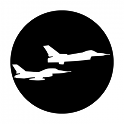 Apollo Metal Gobo 3402 Aircraft Fighter Jets