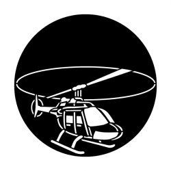 Apollo Metal Gobo 3405 Aircraft Helicopter