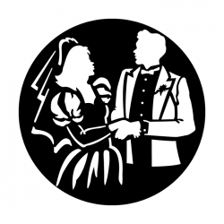Apollo Metal Gobo 4034 Bride and Groom