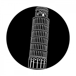 Apollo Metal Gobo 4155 Leaning Tower