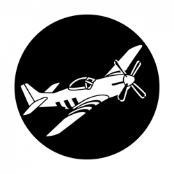 Apollo Metal Gobo 4192 P51D Mustang