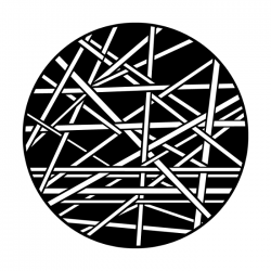 Apollo Metal Gobo 4231 Criss Crossed Lines