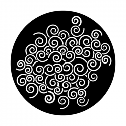Apollo Metal Gobo 4306 Swirls-A-Whirling