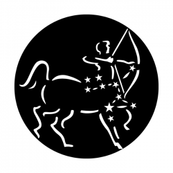 Apollo Metal Gobo 7032A Constellations Sagittarius The Archer
