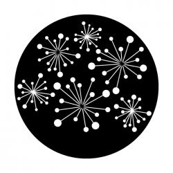 Apollo Metal Gobo DS 8009 D. Greene - Modern Fireworks Breakup
