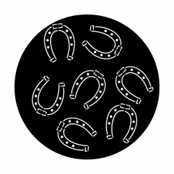 Apollo Metal Gobo DS 8022 A. Reid - Multiple Horseshoes