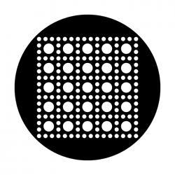Apollo Metal Gobo DS 8026 M. Nelson - Circle Square Grid