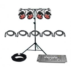 SLS Chauvet DJ SLIMPACKT6USB - 4 Par Light Kit