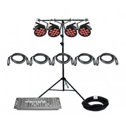 SLS Chauvet DJ SLIMPART12USB - 4 Par Light Kit
