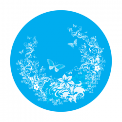 Apollo PrintScenic Glass Gobo C10015 Cyan Fantasy