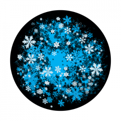 Apollo PrintScenic Glass Gobo C21115 Snowfall Flurry