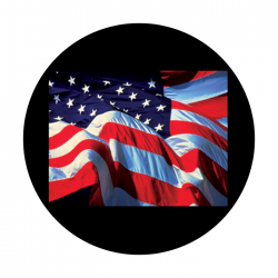 Apollo PrintScenic Glass Gobo CS0118 American Flag Close Up