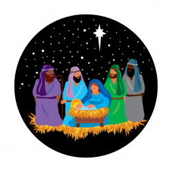 Apollo PrintScenic Glass Gobo CS0169 Nativity Scene