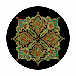 Apollo PrintScenic Glass Gobo CS3429 Intricate Indian Tile