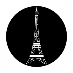 Apollo PrintScenic Glass Gobo ME1206 Eiffel Tower