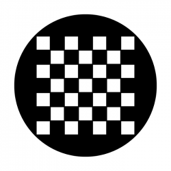 Apollo PrintScenic Glass Gobo ME2007 Checkerboard Plain
