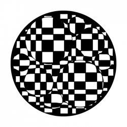 Apollo PrintScenic Glass Gobo ME2341 Checkerboard Bubbles