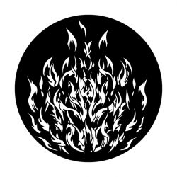 Apollo PrintScenic Glass Gobo ME2447 Breakup-Angry Fire