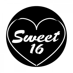 Apollo PrintScenic Glass Gobo ME2463 Sweet Sixteen