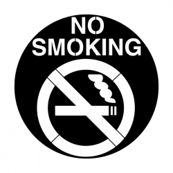 Apollo PrintScenic Glass Gobo ME2484 No Smoking