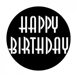 Apollo PrintScenic Glass Gobo ME2487 Happy Birthday