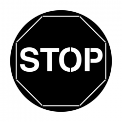 Apollo PrintScenic Glass Gobo ME2530 Stop Sign