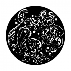 Apollo PrintScenic Glass Gobo ME2579 Feminine Paisley