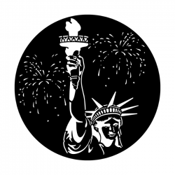 Apollo PrintScenic Glass Gobo ME3004 July 4th Statue of Liberty